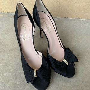 SJP Sarah Jessica Parker black heels Sz 40